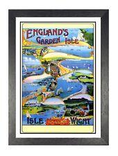 Vintage England Garden Isle Railway VTARP058 Art Print A4 A3 A2 A1