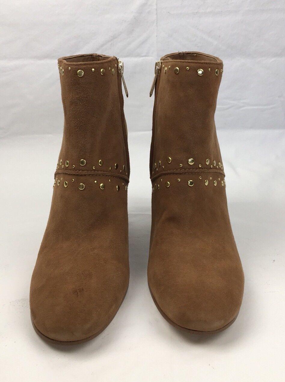 SAM EDELMAN Ankle Stiefelies Chandler Zip Zip Zip Saddle Suede Heeled Leather Stiefel 9 M 729123