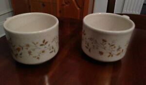 Vintage-Lenox-Coffee-Cups-Temper-ware-Merriment-Flat-Mugs-Multiple-sets-of-2