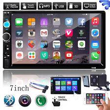 "7"" 2 DIN Bluetooth Touch Car Stereo Audio MP3 Player FM Radio USB AUX Head Unit"