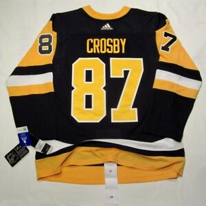 official photos b71aa 845b2 Details about SIDNEY CROSBY size 46 = sz Small - Home Black Pittsburgh  Penguins ADIDAS JERSEY