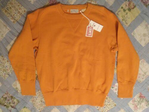 New Men/'s Levi/'s Vintage Clothing LVC Bay Meadows Sweatshirt Russet Orange M