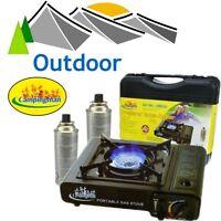 Tragbarer Gas-kocher Inkl. 2 Butan Kartuschen (campingkocher/gasofen/gaskocher)