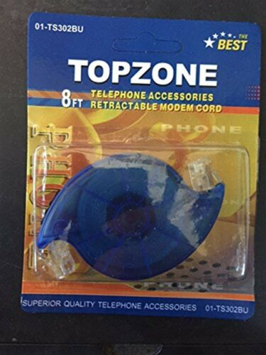 8 Ft Retractable Telephone Cord RJ-11 Phone or Modem Cord RJ11 *USA SHIPPING*