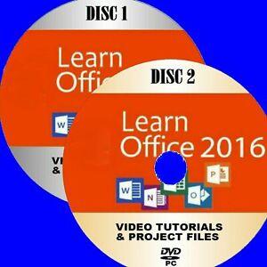MICROSOFT-Office-2016-video-formazione-30-HRS-PC-DVD-Word-EXCEL-una-nota-ecc-NUOVO