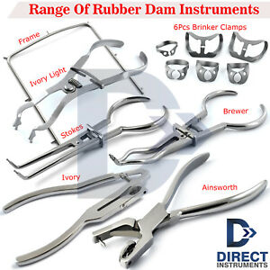 Dental-Rubber-Dam-Instruments-Kit-Brinker-Clamps-Frame-Punch-Forceps-Endodontics