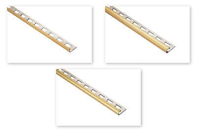 200cm Fliesenschienen gold glänzend Edelstahlschiene V2A viele Fliesenprofile