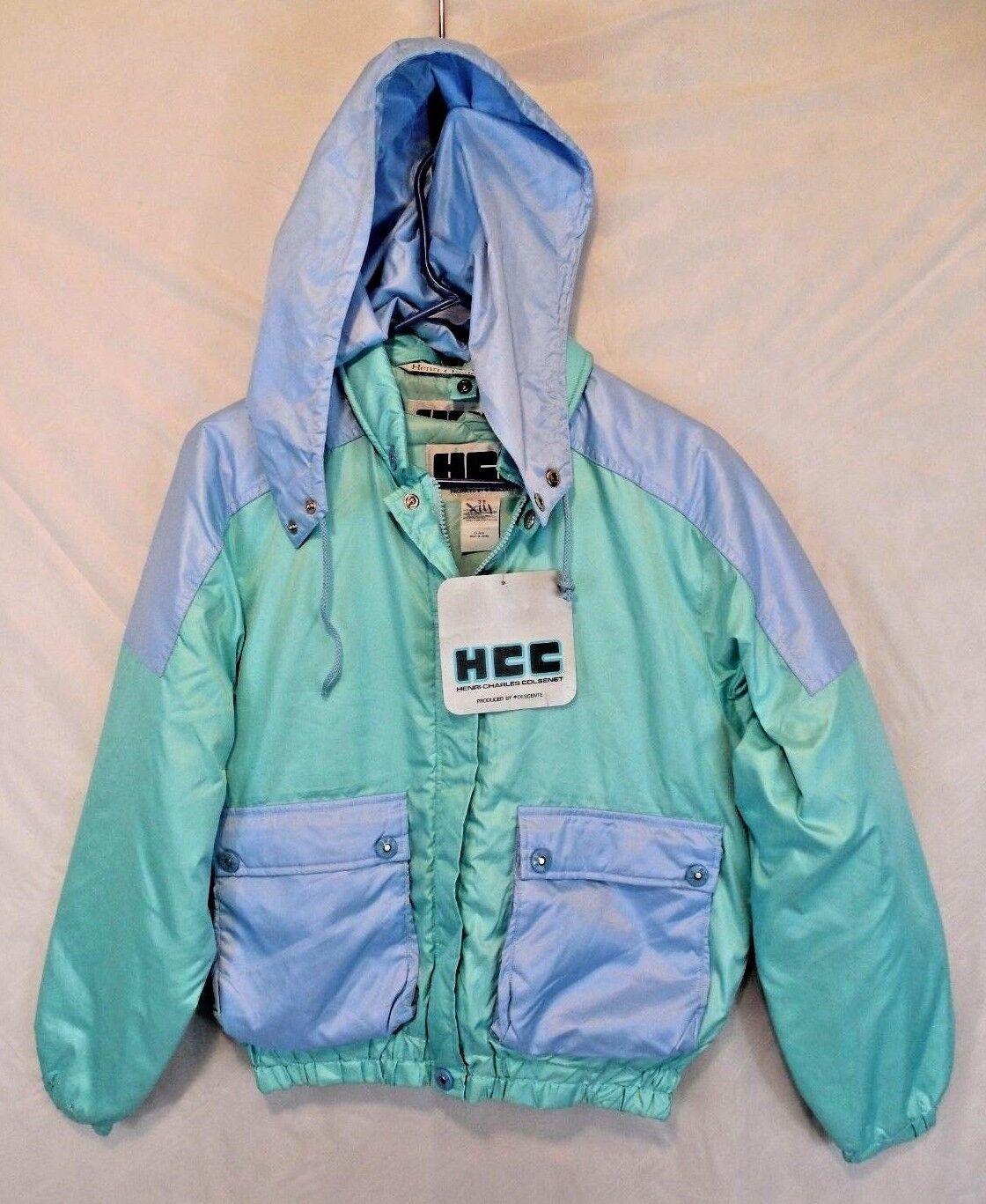 New Vtg Japan made HCC Henri Charles Colsenet Down Ski jacket Sz 38 S M Descente