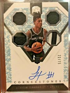 2018 Panini Cornerstones Lonnie Walker Rookie Auto /75 - Crystal - 3 Color RPA