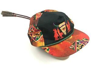 NEW VINTAGE Bob Massey Southwestern Hat Cap Orange Corded Horsehair Cowboy Rope