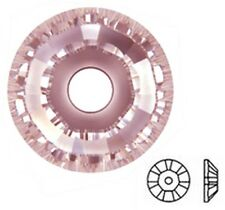 10 SWAROVSKI CRYSTAL GLASS SPACER BEADS 3128, LIGHT ROSE FOIL, 4 MM