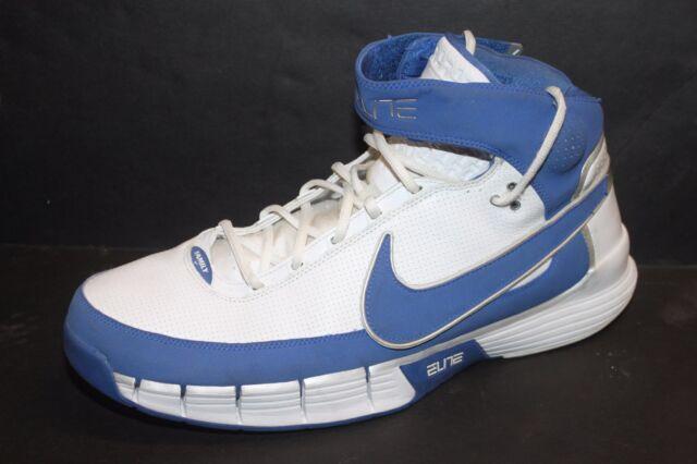 big sale 144f4 3a9f0 Nike Air Huarache Elite II Shoes 316905-141 Size 18 Blue White