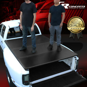 HARD SOLID TRI-FOLD TONNEAU COVER FOR 09-21 RAM 1500/2500 6.5FT BED PICKUP TRUCK