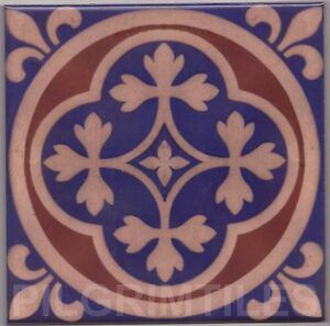 victorian gothic style tiles / fireplace / kitchen