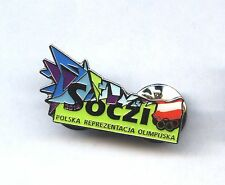 Sochi 2014 official Polish Team pin NOC Soczi dated Olympic POLAND badge POLSKA