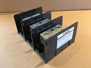 NOS-Burndy-BDBLHC-22-500-3-600V-AC-760Amp-Power-Distribution-Block-BDBLHC225003