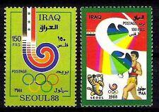 IRAQ Summer Olympics Seoul South Korea 1988 SC1354 -55 SG# 1842 - 43  RARE