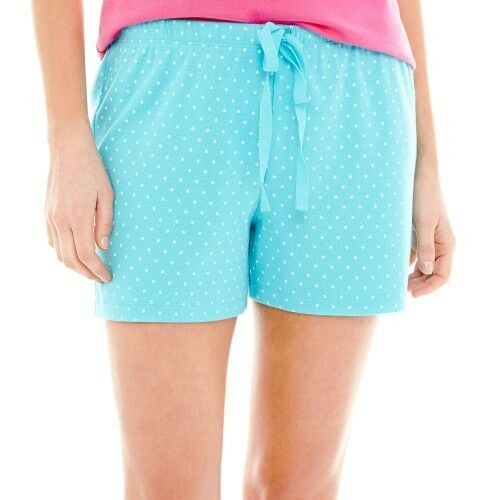 Mixit Knit Sleep Shorts Blue Curacao Size S New Msrp $22.00