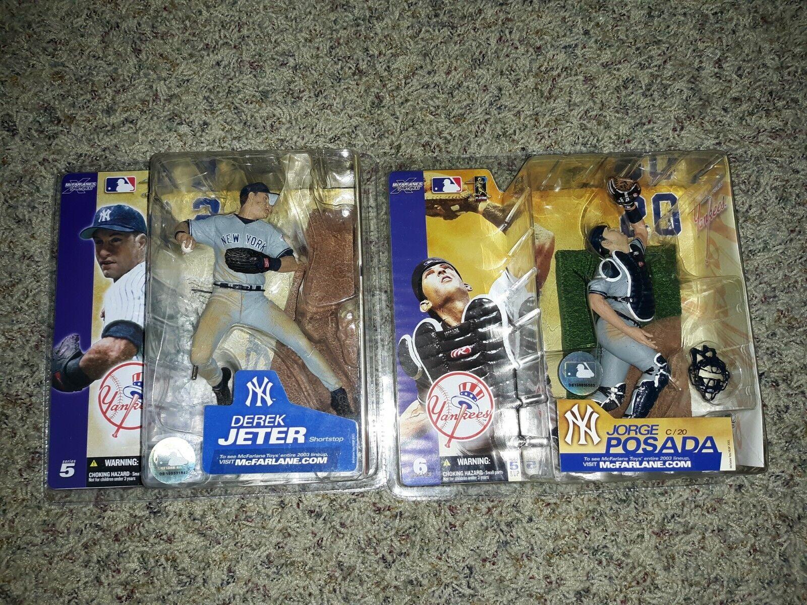 Jorge Posada McFarlanes Series 6 2003 & Series 5 Derek Jeter