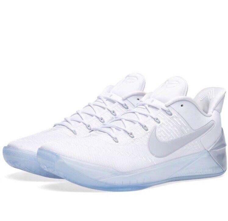 Nike Kobe 12 A.D. EP White Chrome Ice Bryant Basketball Shoes 852425-110 Sz 10
