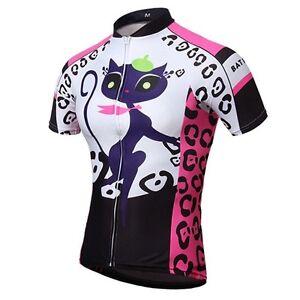 eafa53b79 Cat Girls Women s Short Sleeve Cycling Jerseys Tops Bike Bicycle ...