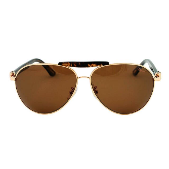 486fed593fa Chopard Sch A55 Sunglasses Col. 648p Matt Gold   Brown Polarized for ...