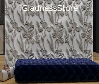 3D Decorative Wall Panels 1 pcs ABS Plastic mold for Plaster Irises