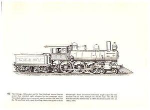 Chicago-Milwaukee-St-Paul-Railroad-Engine-Baldwin-039-s-10000-039-th-1889-Train-print