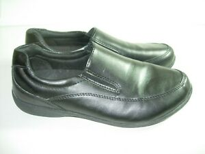 womens black safe t step casual loafers comfort slip on