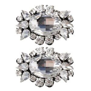 2pcs Shoe Decoration Clothes DIY Bowknot Ornaments Charms Floral Gauze Headwear