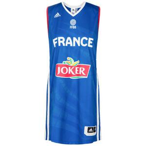 Details zu Adidas Ffbb Frankreich Damen Nationalmannschaft Basketball Trikot Weste Blau