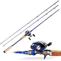 Baitcasting Sea Fishing Rod With Reel Combos 2section Left/right Fishing Kits