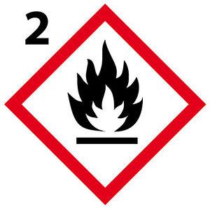 Inflamable 1 Panneau En Aluminium Danger [10cm] Ghs2 H0fbbt1h-08001255-870301239