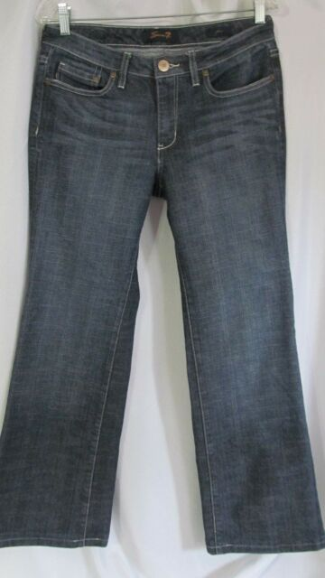 7 SEVEN  FLARE  DENIM BLUE JEANS size 6 30 X 29~~~~~~ Lot #31
