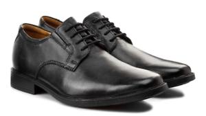 Oxford Clarks Noir 8 Robe Plaine Chaussures Cuir Hommes Taille Nouveau 5 Tilden À Lacets WIEDYH29