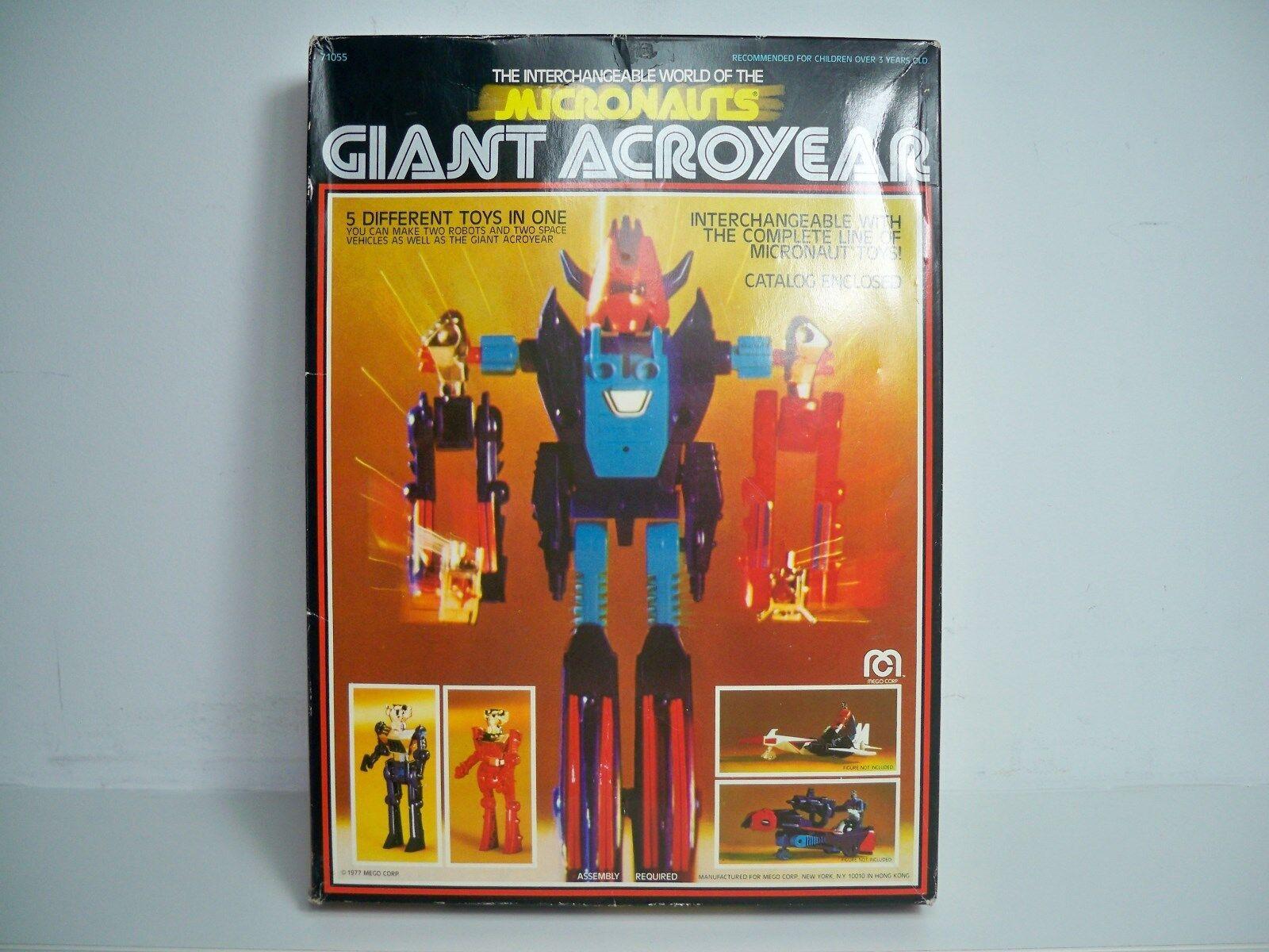 D1034 Gigante ACROYEAR Suelto C  Caja Instrucciones 100% Completo Mego Micronauts