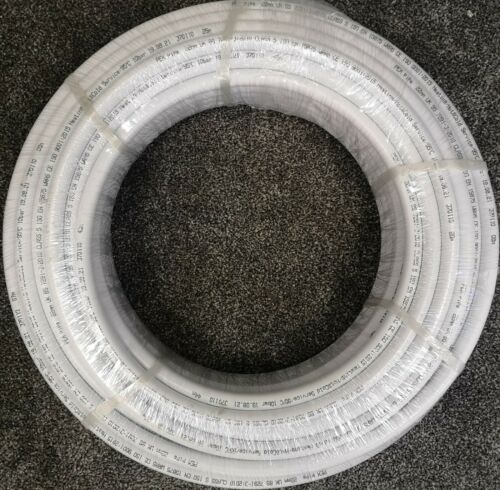 White WRAS Approved PE-X Barrier Pipe 22mm x 25M