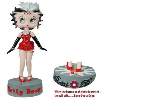 Betty Boop IC Talking BobbleHead Polyresin Figure Doll Bobble Wobble Head