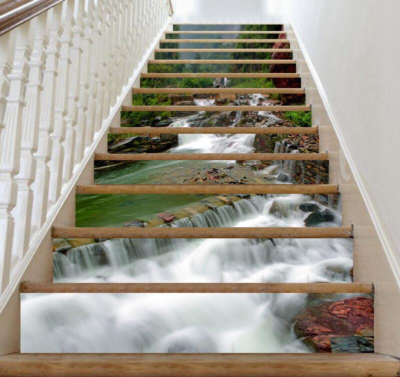 3D Wasser 463 Stair Risers Dekoration Fototapete Vinyl Aufkleber Tapete DE