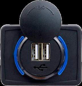 Toma-USB-Superficie-12v-24v-2-1A-Encastrable-Redondo-Combinable-Camper