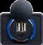 miniatura 1 - Toma-USB-Superficie-12v-24v-2-1A-Encastrable-Redondo-Combinable-Camper