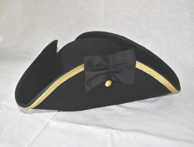 "Tricorn 4 3/4"" Hat Size 7 3/8 - Revolutionary War - In Stock!"