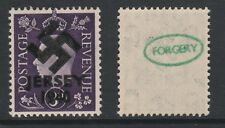 GB Jersey (271) 1940 Swastika Overprint forgey om genuine 3d stamp unmounted