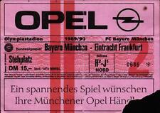 Ticket BL 89/90 FC Bayern München - Eintracht Frankfurt, Stehplatz