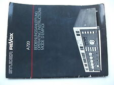 Original Studer Revox A720 User Guide Bedienungsanleitung mit 40 Seiten