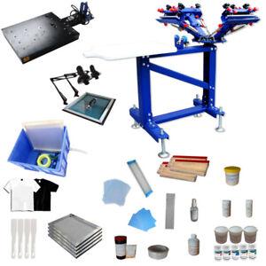 39a5d159 3 Color Screen Printing Press Kit Silk Screen Printer with Flash ...