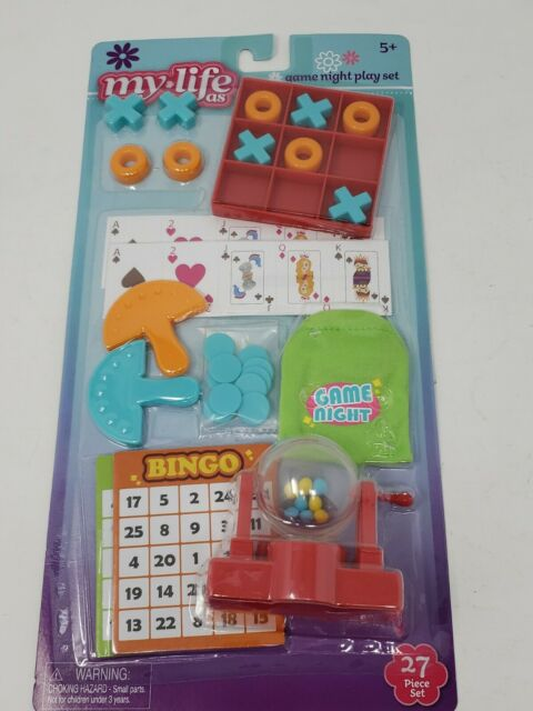 My Life As Game Night Play Set Cards Tic Tac Toe Bingo for 18 in Dolls