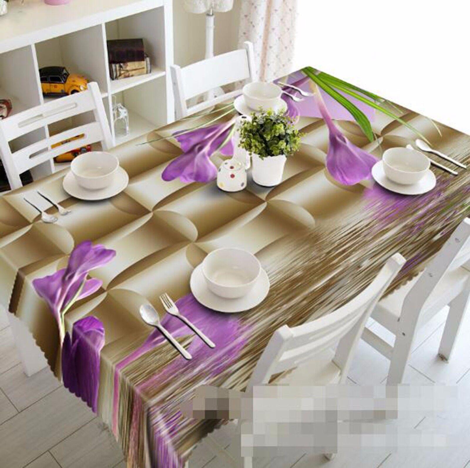 3D Petals 408 Tablecloth Table Cover Cloth Birthday Party AJ WALLPAPER UK Lemon