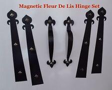Magnetic Garage Door Decorative Hardware KIT Hinges Fleur de Lis1 Carriage House