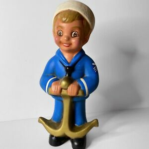 Vintage-Sailor-Boy-Anchor-Navy-1970s-Figurine-Mid-Century-Ceramic-Nautical